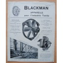 Pub VENTILATEURS BLACKMAN appareils Industrie Textile