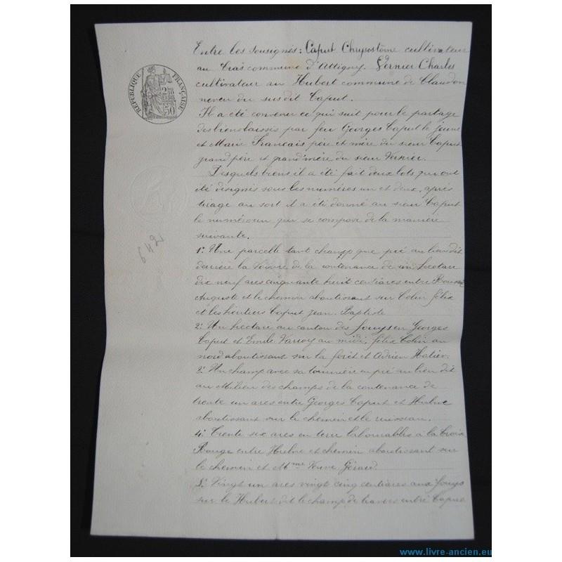 acte notari donation 1906 commune d 39 attigny claudon lorraine vosges 88. Black Bedroom Furniture Sets. Home Design Ideas