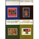 4 Books Stamps Furstentum LIECHTENSTEIN 1968-1969 Timbres Philatélie Briefs
