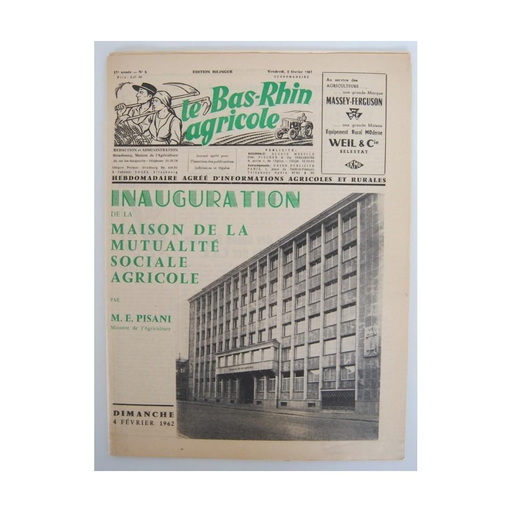 Revue le bas rhin agricole 1962 inauguration maison - Comptoir agricole bas rhin ...