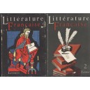 LITTERATURE FRANCAISE Librairie Larousse 2 tomes Bédier / Hazard / Martino